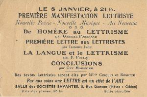 Première conférence - 1946